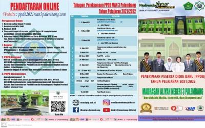 Buka Jalur Beasiswa, Pendaftaranan PPDB MAN 3 Palembang Buka 1 Maret 2021