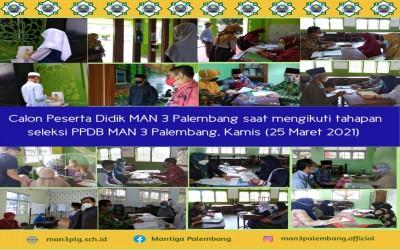 Calon Peserta Didik Baru MAN 3 Palembang Ikut Tahapan PPDB Tahun 2021
