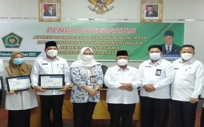 PTSP MAN 3 Palembang Terima Apresiasi Tingkat Kanwil Kemenag Sumsel